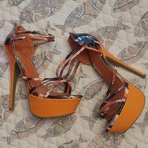 Women's stilleto platform heels 7.5